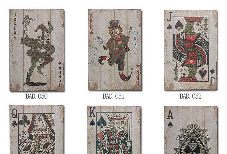 Cartes Imprimées sur bois