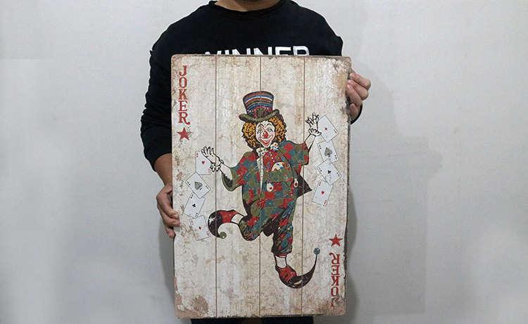 Cartes imprimées bois
