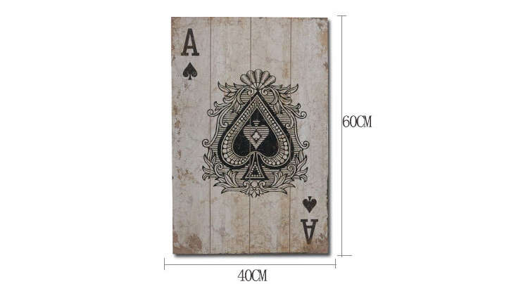 Carte imprimée sur bois